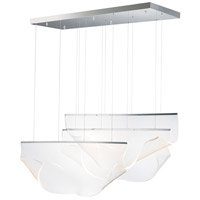 ET2 E24873-133PC Rinkle LED 14 inch Polished Chrome Multi-Light Pendant Ceiling Light