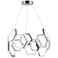 ET2 E24893-PC Polygon LED 30 inch Polished Chrome Single Pendant Ceiling Light