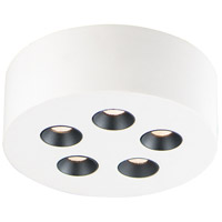 ET2 E25010-WT Peg LED 7 inch White Flush Mount Ceiling Light