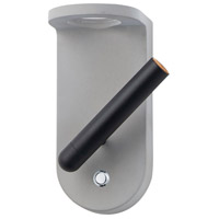 ET2 E25015-GYBK Beacon LED 5 inch Gray and Black ADA Wall Sconce Wall Light in Gray and White