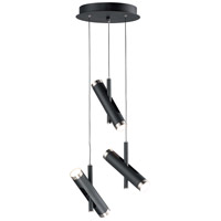 ET2 E25043-BKSN Ambit LED 14 inch Black and Satin Nickel Multi-Light Pendant Ceiling Light