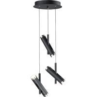 ET2 E25043-BKSN Ambit LED 14 inch Black and Satin Nickel Multi-Light Pendant Ceiling Light