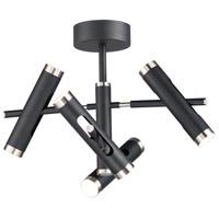 ET2 E25044-BKSN Ambit LED 25 inch Black and Satin Nickel Semi-Flush Mount Ceiling Light
