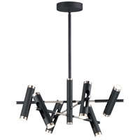 ET2 E25046-BKSN Ambit LED 32 inch Black and Satin Nickel Multi-Light Pendant Ceiling Light