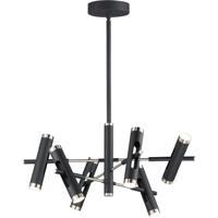 ET2 E25046-BKSN Ambit LED 32 inch Black and Satin Nickel Multi-Light Pendant Ceiling Light