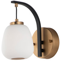 ET2 E25060-92BKGLD Soji LED 5 inch Black and Gold Wall Sconce Wall Light