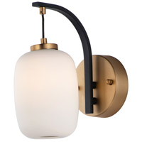 ET2 E25061-92BKGLD Soji LED 5 inch Black and Gold Wall Sconce Wall Light
