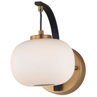 ET2 E25062-92BKGLD Soji LED 6 inch Black and Gold Wall Sconce Wall Light