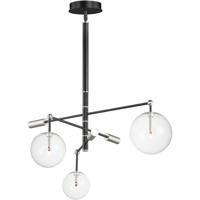 ET2 E25074-18BKSN Global LED 36 inch Black and Satin Nickel Multi-Light Pendant Ceiling Light