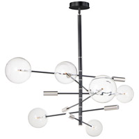 ET2 E25076-18BKSN Global LED 45 inch Black and Satin Nickel Multi-Light Pendant Ceiling Light