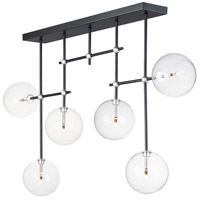ET2 E25078-18BKSN Global LED 6 inch Black and Satin Nickel Multi-Light Pendant Ceiling Light