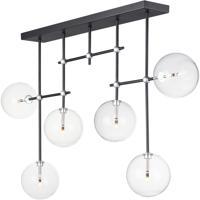 ET2 E25078-18BKSN Global LED 6 inch Black and Satin Nickel Multi-Light Pendant Ceiling Light
