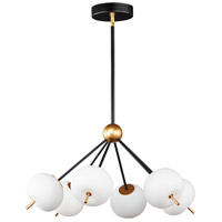 ET2 E25116-92BKGLD Quest LED 27 inch Black and Gold Pendant System Ceiling Light
