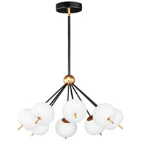 ET2 E25118-92BKGLD Quest LED 29 inch Black and Gold Pendant System Ceiling Light