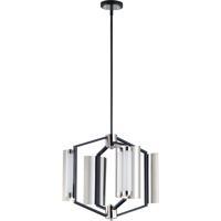 ET2 E25124-01BKPN Reflect 4 Light 20 inch Black and Polished Nickel Multi-Light Pendant Ceiling Light