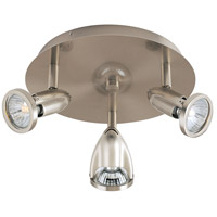 ET2 Agron 3 Light Flush Mount in Satin Nickel E30001-10