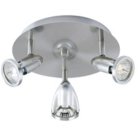 ET2 E30001-10SN Agron 3 Light 9 inch Satin Nickel Flush Mount Ceiling Light photo thumbnail