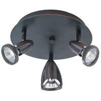 Agron 3 Light 9 inch Bronze Flush Mount Ceiling Light