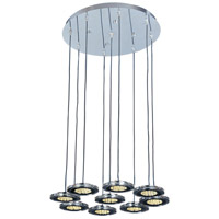 ET2 L.E.D.-1 9 Light Multi-Light Pendant in Polished Chrome E30077-18