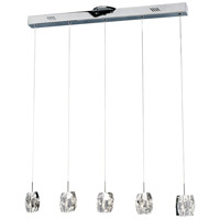 ET2 Neo 5 Light Linear Pendant in Polished Chrome E30505-20