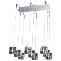 Neo 9 Light 22 inch Polished Chrome Linear Pendant Ceiling Light