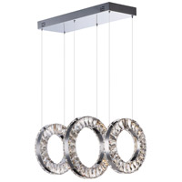 ET2 E30563-20PC Charm LED 12 inch Polished Chrome Linear Pendant Ceiling Light