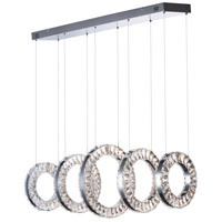 ET2 E30565-20PC Charm LED 14 inch Polished Chrome Linear Pendant Ceiling Light