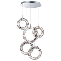 ET2 E30567-20PC Charm LED 24 inch Polished Chrome Multi-Light Pendant Ceiling Light