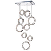 ET2 E30568-20PC Charm LED 15 inch Polished Chrome Multi-Light Pendant Ceiling Light