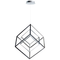 ET2 E30586-BKPC 4 Square LED 31 inch Black and Polished Chrome Single Pendant Ceiling Light