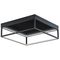 ET2 E30598-BK 4 Square LED 20 inch Black Flush Mount Chandelier Ceiling Light