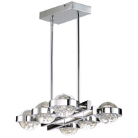 Cosmo LED 23 inch Polished Chrome Linear Pendant Ceiling Light