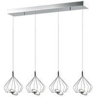 Tilt LED 38 inch Polished Chrome Single Pendant Ceiling Light