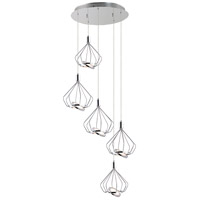 ET2 E30625-PC Tilt LED 21 inch Polished Chrome Multi-Light Pendant Ceiling Light