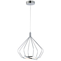Tilt LED 16 inch Polished Chrome Linear Pendant Ceiling Light