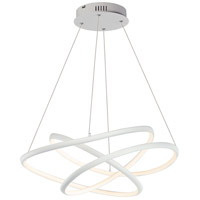 Twisted LED 32 inch Matte White Single Pendant Ceiling Light