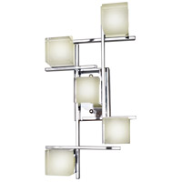 ET2 Nova 5 Light LED Wall/Flush Mount in Polished Chrome E31201-75PC