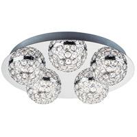 ET2 E31220-20PC Eclipse LED 16 inch Polished Chrome Flush Mount Chandelier Ceiling Light