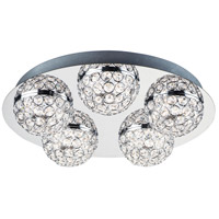 ET2 E31220-20PC Eclipse LED 16 inch Polished Chrome Flush Mount Chandelier Ceiling Light