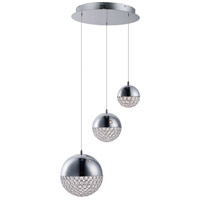 ET2 E31226-20PC Eclipse LED 19 inch Polished Chrome Single Pendant Ceiling Light