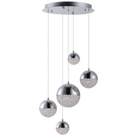 ET2 E31227-20PC Eclipse LED 20 inch Polished Chrome Multi-Light Pendant Ceiling Light