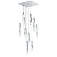 ET2 E31246-20PC Quartz LED 16 inch Polished Chrome Multi-Light Pendant Ceiling Light