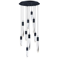 ET2 E31247-20BK Quartz LED 20 inch Black Multi-Light Pendant Ceiling Light