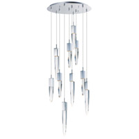 ET2 E31247-20PC Quartz LED 20 inch Polished Chrome Multi-Light Pendant Ceiling Light
