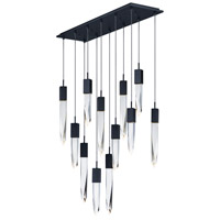 ET2 E31248-20BK Quartz LED 39 inch Black Multi-Light Pendant Ceiling Light