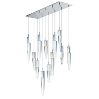ET2 E31248-20PC Quartz LED 39 inch Polished Chrome Multi-Light Pendant Ceiling Light