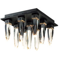 ET2 E31249-20BK Quartz LED 18 inch Black Flush Mount Ceiling Light