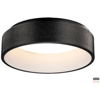 ET2 E31252-BBK IQ LED 18 inch Brushed Black Flush Mount Chandelier Ceiling Light