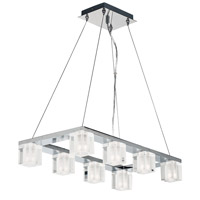 ET2 E32036-18PC Blocs Led LED 24 inch Polished Chrome Linear Pendant Ceiling Light