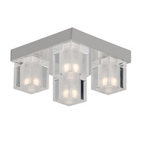 ET2 E32038-18PC Blocs Led LED 8 inch Polished Chrome Flush Mount Ceiling Light